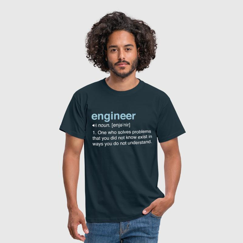 Funny Engineer Definition - Men's T-Shirt