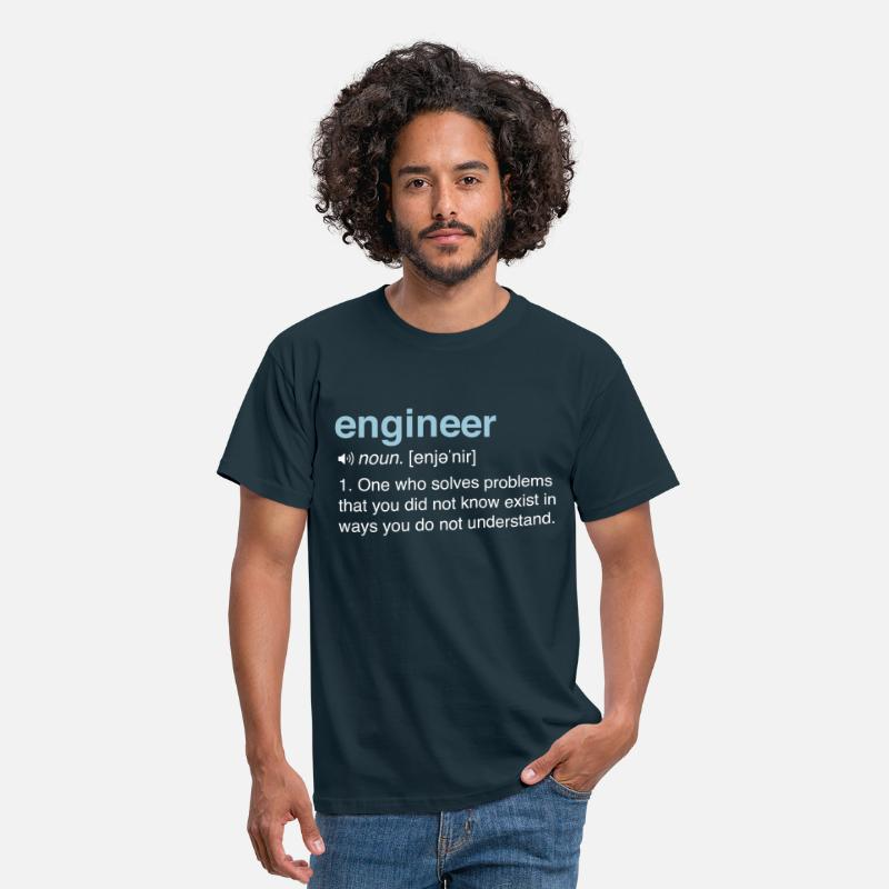 Engineer T-Shirts - Funny Engineer Definition - Men's T-Shirt navy