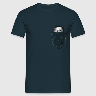 pocket cat by CustomStyle - T-shirt Homme