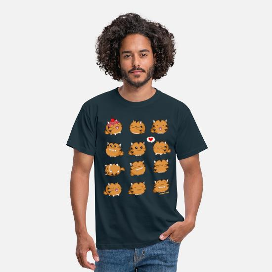 Adorable T-shirts - Fuzzballs Tiger - T-shirt Homme marine
