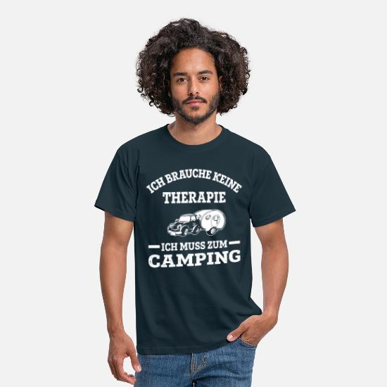 Camping T-Shirts - Therapie? Nein, Camping! - Männer T-Shirt Navy