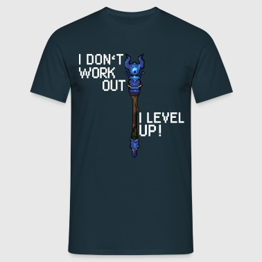 I don't workout I level up! - T-shirt herr