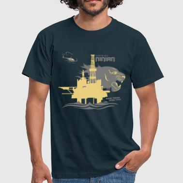 Aberdeen Ninian Oil Rig Platform North Sea Aberdeen - Men's T-Shirt