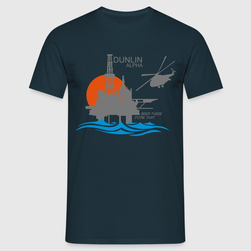 Dunlin Alpha Oil Rig Platform North Sea Aberdeen - Men's T-Shirt