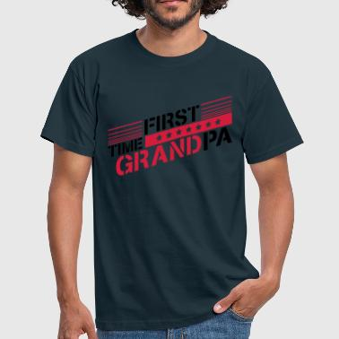 First Time Grandpa First Time Grandpa Logo - Men's T-Shirt