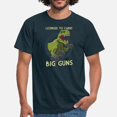 Lifting License to Carry Big Guns - Men's T-Shirt