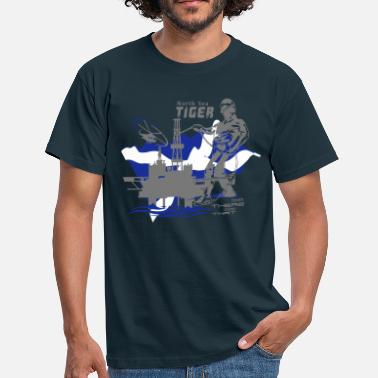 North Oil Rig Oil Platform North Sea Aberdeen Scotland - Men's T-Shirt