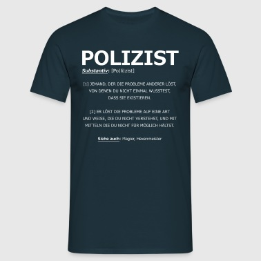 Polizist Definition - Männer T-Shirt