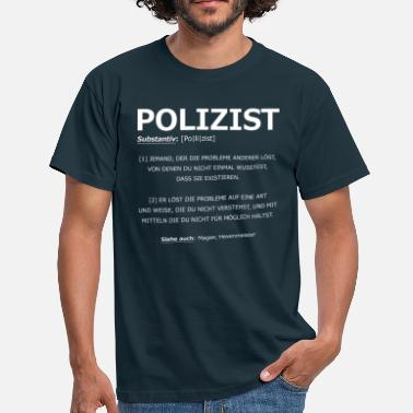 Definition Polizist Definition - Männer T-Shirt