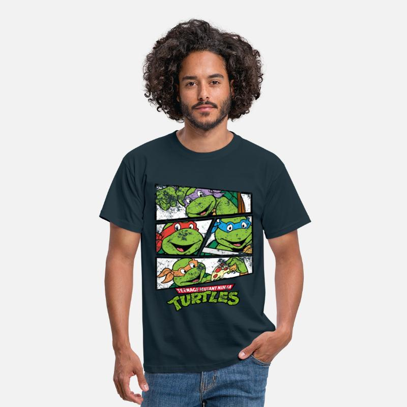 Officialbrands T-Shirts - TMNT Raphael Donatello Leonardo Michelangelo - Men's T-Shirt navy