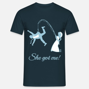 Minute She Got Me! (Groom / Stag Party / Bachelor Party) - Men's T-Shirt