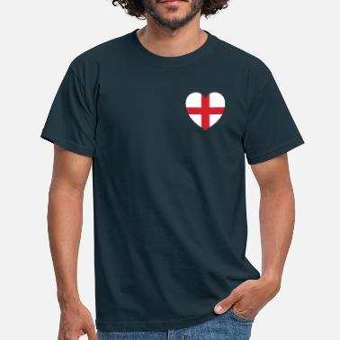 England Heart Heart of England - Men's T-Shirt