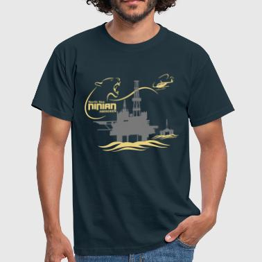 Ninian Oil Rig Platform - Men's T-Shirt