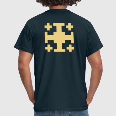 cross of jerusalem - Men's T-Shirt
