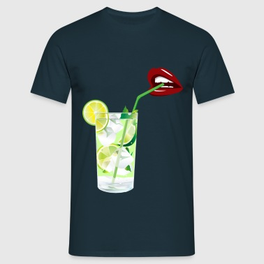 Lips and mojitos : for a perfect night - T-shirt Homme