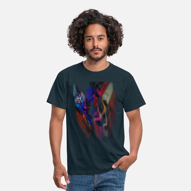 Pattern T-Shirts - abstract pattern - Men's T-Shirt navy