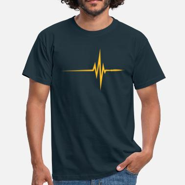 Interne Pulse / beat / ECG - T-shirt Homme