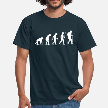 Evolution Wanderer Wanderer Evolution - Männer T-Shirt
