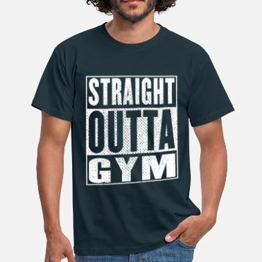 Hood Beasts Straight Outta Gym Vintag - Men's T-Shirt