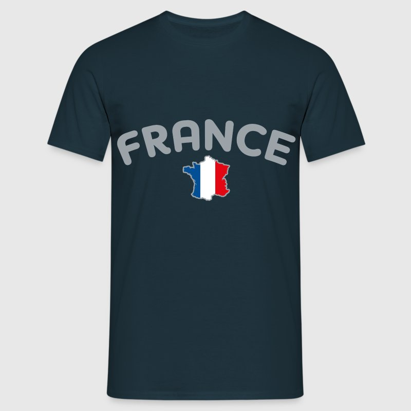 France Carte de France en bleu blanc rouge G - T-shirt Homme