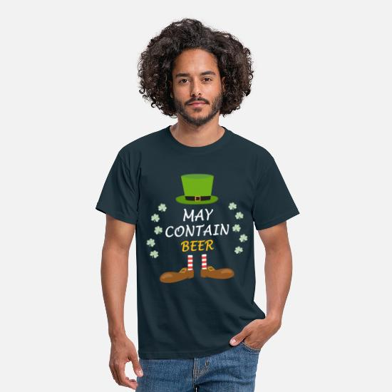 St T-Shirts - Beer St Patricks Day - Men's T-Shirt navy