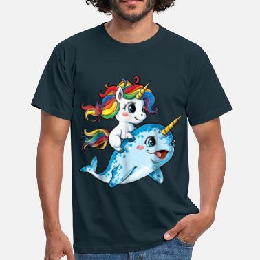 Best Selling Unicorn Narwhal Squad Girls Kids Rainbow - Men's T-Shirt
