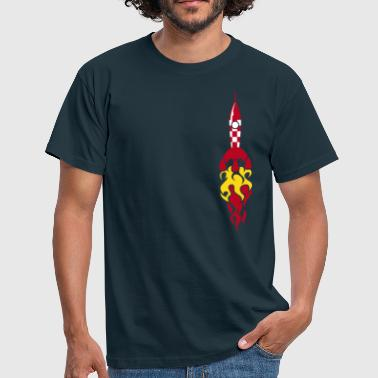 rocket ship - rakete - Männer T-Shirt