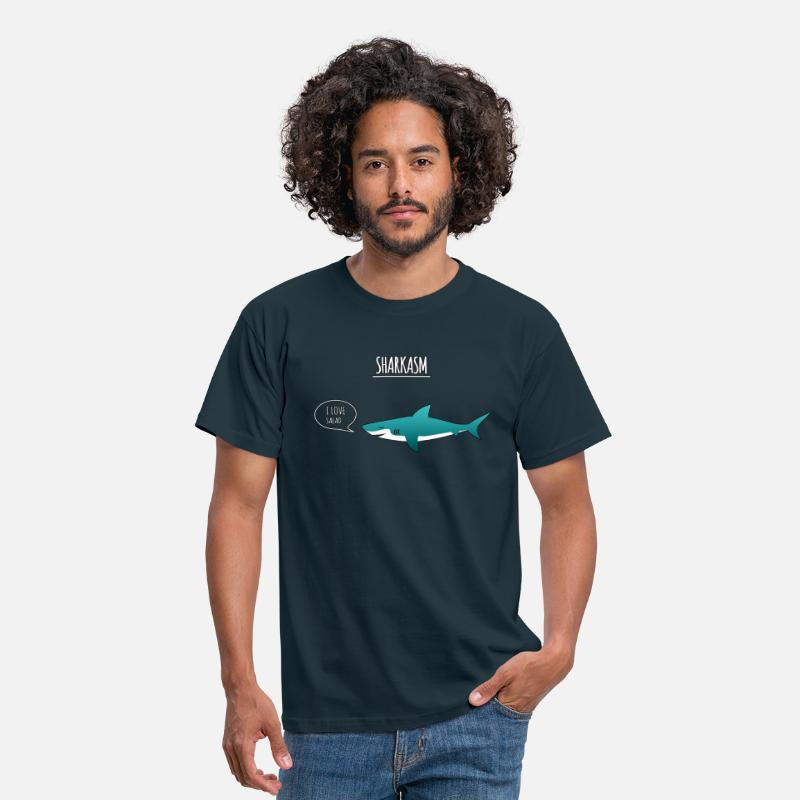 Sarcasm T-Shirts - sharkasm - Men's T-Shirt navy