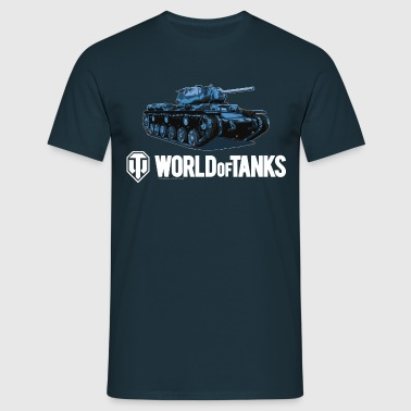 World of Tanks - Blue KV1S - Men's T-Shirt