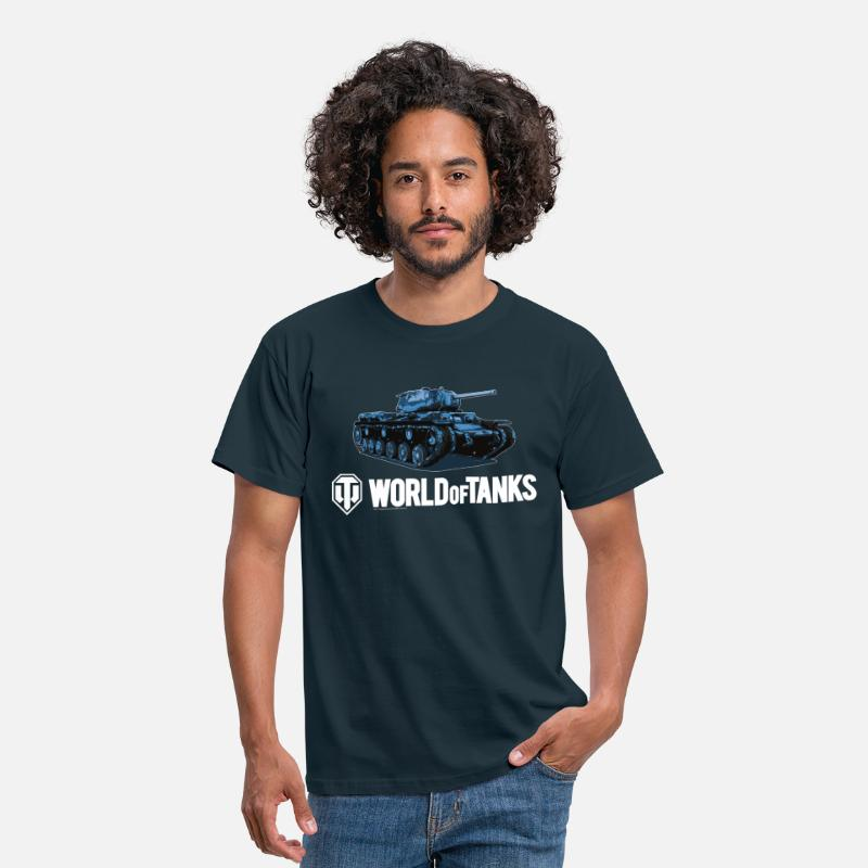 World Of Tanks T-Shirts - World of Tanks - Blue KV1S - Männer T-Shirt Navy