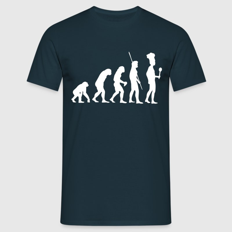 Evolution koken - Mannen T-shirt