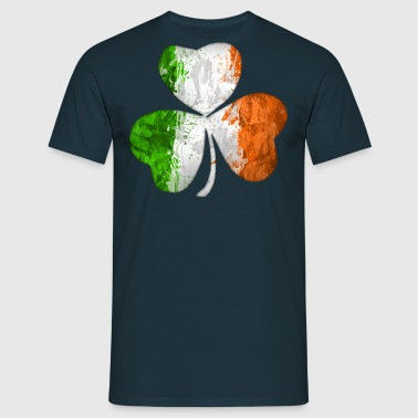 Irish Flag Clover Grunge - Men's T-Shirt