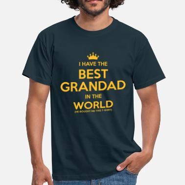 Xmas Grandad i have the best grandad in the world - Men's T-Shirt