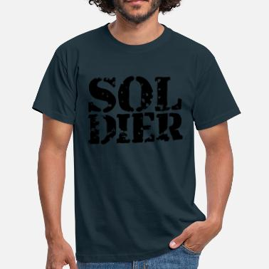 Stamp Military Soldier Soldier Stamp Design - Men's T-Shirt