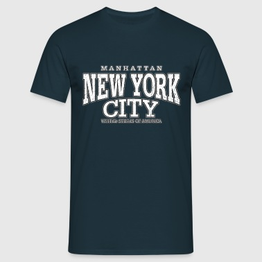 New York City Manhattan white (oldstyle) - Männer T-Shirt