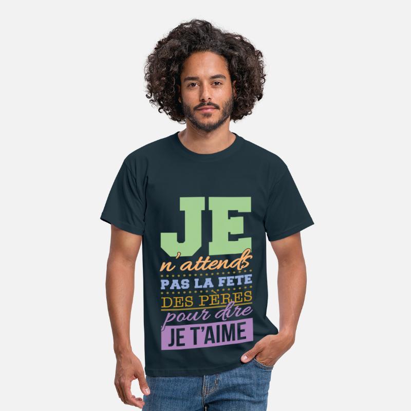f te des p res papa je t 39 aime t shirt homme spreadshirt. Black Bedroom Furniture Sets. Home Design Ideas