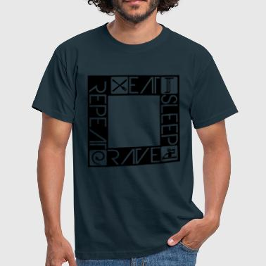 DJ Design Eat Sleep Rave Repeat Quadrat - Men's T-Shirt