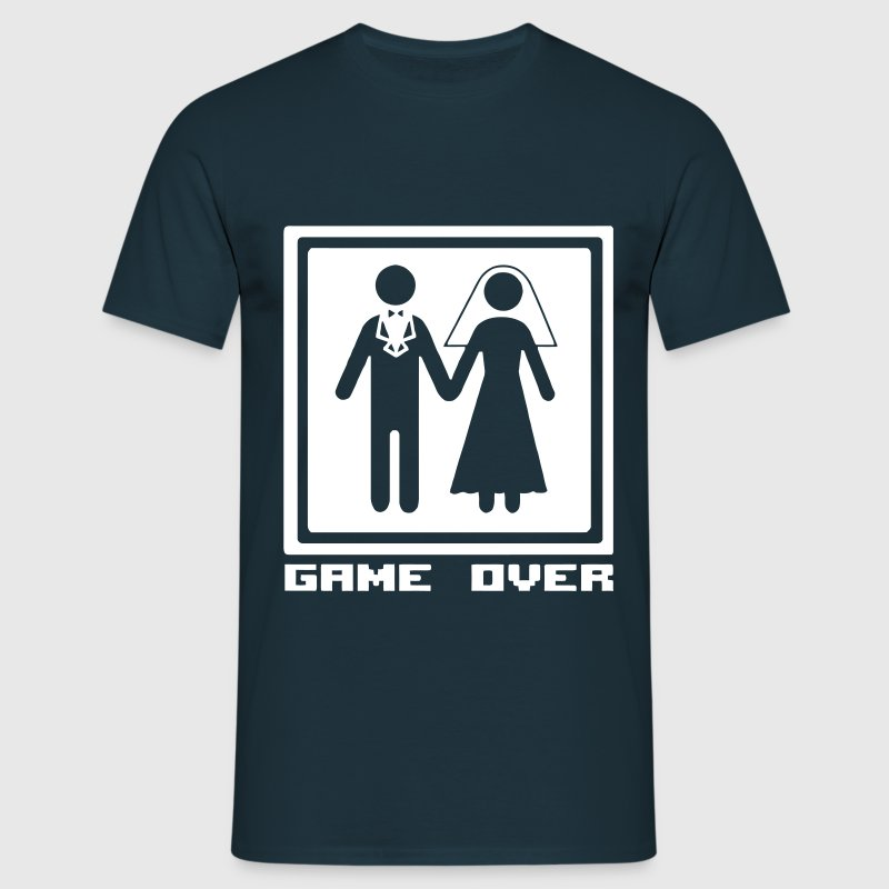 Fun: Wedding/Hochzeit: Game Over - The end of life - Herre-T-shirt