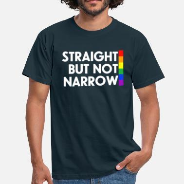 Lgbt Straight but not narrow - Men's T-Shirt