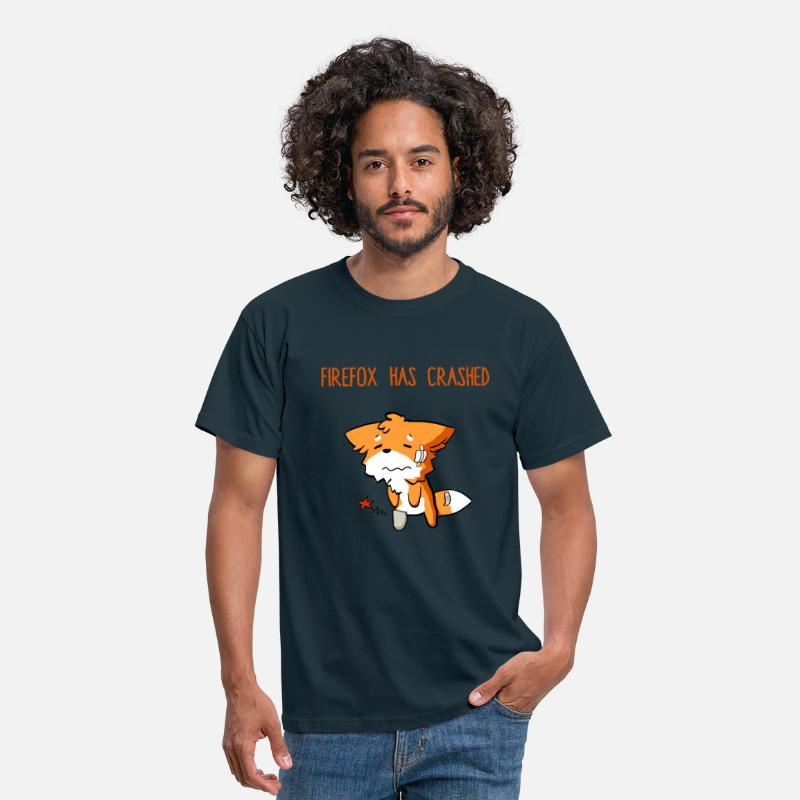 Spreadshirtlikes T-Shirts - Firefox has crashed - Men's T-Shirt navy
