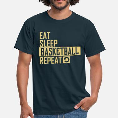Basketballer eat sleep basketball - Männer T-Shirt