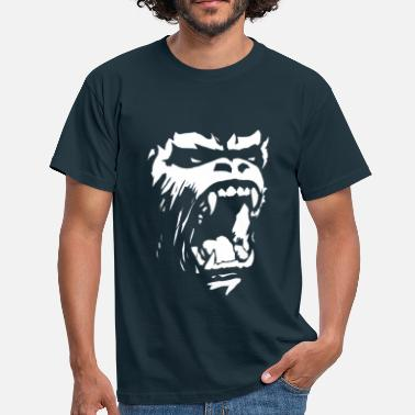 Muscleman Gorilla roar - Men's T-Shirt