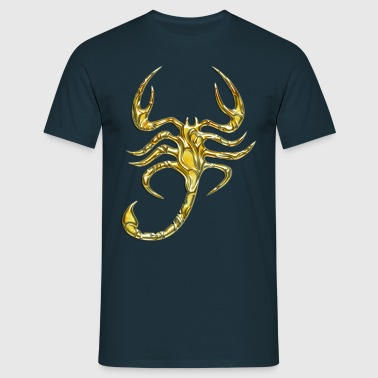 Scorpion, digital, Scorpio, gold - T-shirt herr