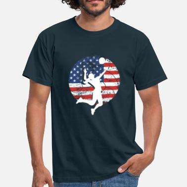 Britsar American Love Volleyball Beachvolleybollsgåva - T-shirt herr