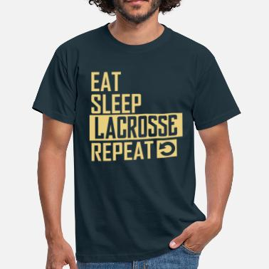 Lacrosse eat sleep lacrosse - Männer T-Shirt