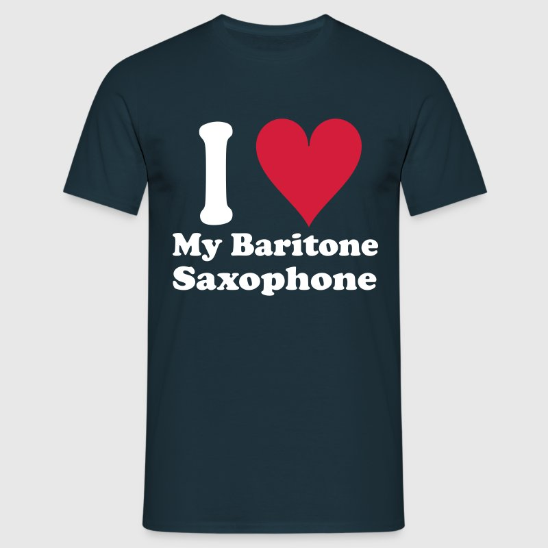 I Love Baritone Saxophone - Men's T-Shirt