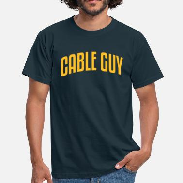 Cable cable guy stylish arched text logo - Men's T-Shirt