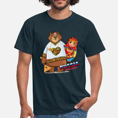 Matroschka Bear and Matreshka / Russia with Love - Männer T-Shirt