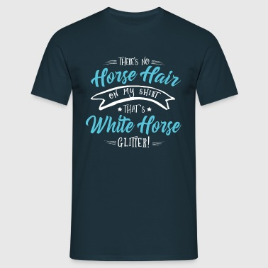 Glitter White Horse - Men's T-Shirt