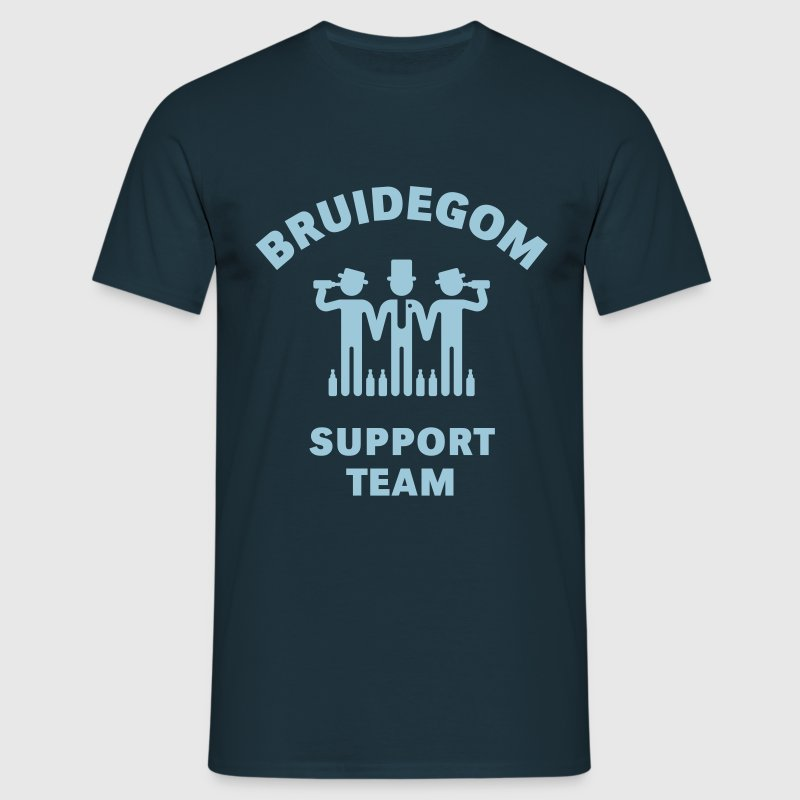 Bruidegom Support Team (Vrijgezellenfeest) - Men's T-Shirt